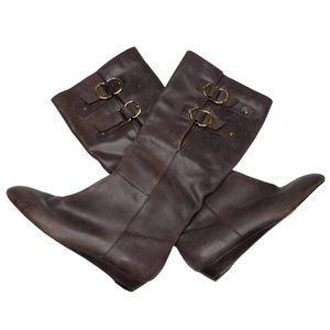 Seychelles   Chocolate Brown Mini Wedge Boots 8.5